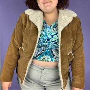 70s K-Mart Faux Sherpa Corduroy Jacket